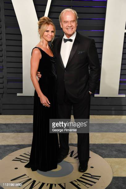 Kayte Walsh and Kelsey Grammer attend the 2019 Vanity Fair Oscar Party hosted by Radhika Jones at Wallis Annenberg Center for the Performing Arts on...