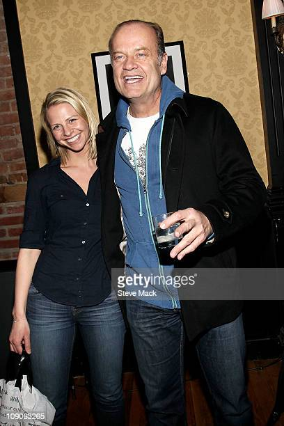 Kayte Walsh and Kelsey Grammer attend the after party for Kelsey Grammer Douglas Hodge Robin De Jesus Fred Applegate's final performance in La Cage...