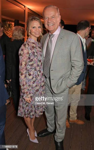 Kayte Walsh and Kelsey Grammer attend the ATG Summer Party at Kensington Palace Gardens in celebration of Sir Ian McKellen on September 8 2019 in...