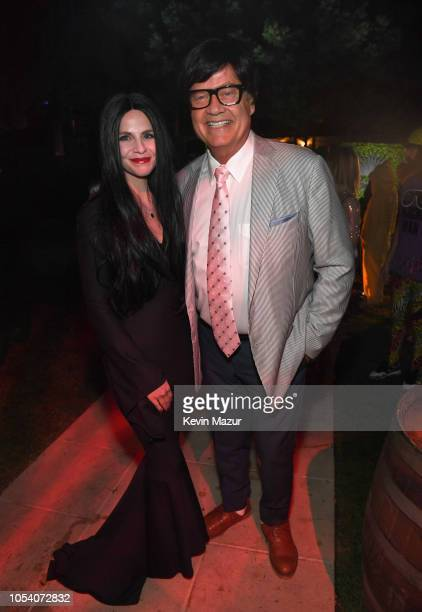 Kayte Walsh and Kelsey Grammer attend the Casamigos Halloween Party on October 26 2018 in Beverly Hills California