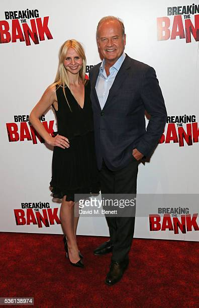 Kayte Walsh and Kelsey Grammer attend the UK gala screening of Breaking The Bank at Empire Leicester Square on May 31 2016 in London England