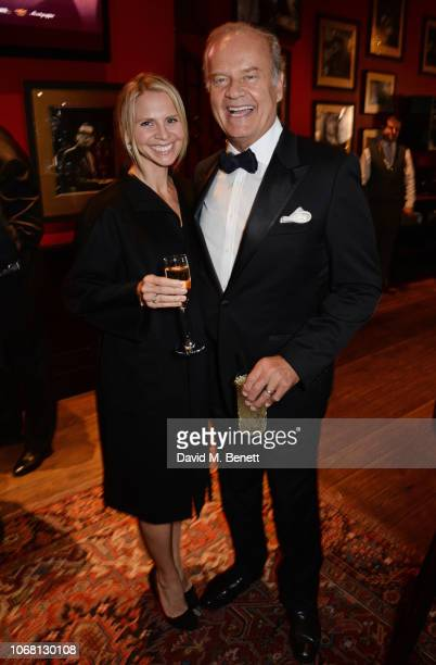 Kayte Walsh and Kelsey Grammer attend The Vina Carmen Cigar Smoker Of The Year Awards 2018 founded by Boisdale at Boisdale of Canary Wharf on...
