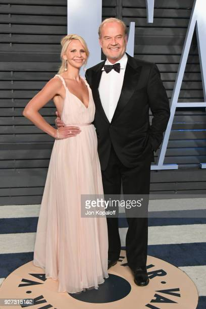 Kayte Walsh and Kelsey Grammer attends the 2018 Vanity Fair Oscar Party hosted by Radhika Jones at Wallis Annenberg Center for the Performing Arts on...