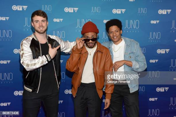 Kaytranada arrives at the 2017 Juno Awards at Canadian Tire Centre on April 2 2017 in Ottawa Canada