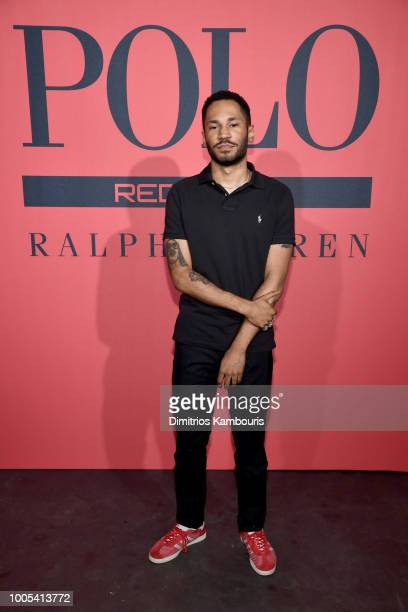 Kaytranada attends the Polo Red Rush Launch Party with Ansel Elgort at Classic Car Club Manhattan on July 25 2018 in New York City