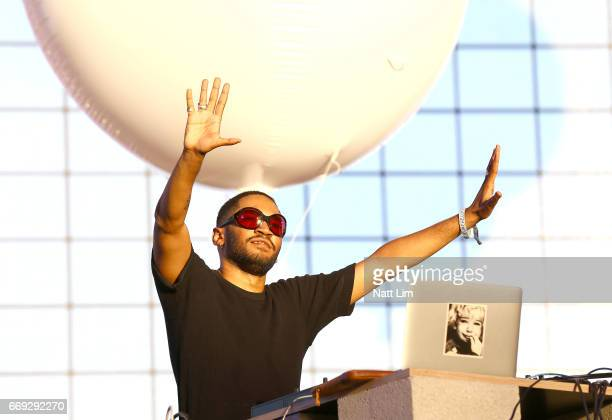 Kaytranada performs in the Sahara Tent during day 3 of the Coachella Valley Music And Arts Festival at the Empire Polo Club on April 16 2017 in Indio...