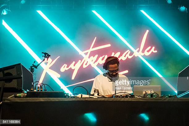 Kaytranada performs on stage during day 3 of Sonar Festival 2016 on June 18 2016 in Barcelona Spain