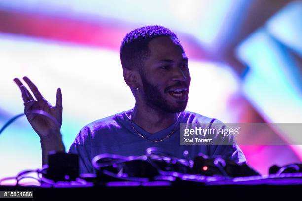 Kaytranada performs on stage during day 4 of Festival Internacional de Benicassim on July 16 2017 in Benicassim Spain