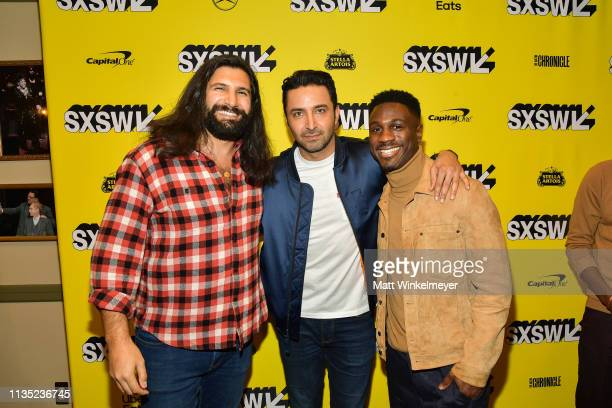 Kayvan Novak Pej Vahdat and Marchánt Davis attend the The Day Shall Come Premiere 2019 SXSW Conference and Festivals at Paramount Theatre on March 11...