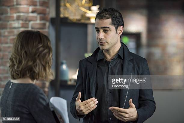 Kayvon Beykpour cofounder and chief executive officer of Periscope speaks to a reporter after a Bloomberg West Television interview in San Francisco...