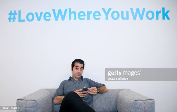 Kayvon Beykpour founder and CEO of Periscope sits in an office of Twitter Germany in Hamburg Germany 29 June 2015 Photo Christian Charisius/dpa  ...