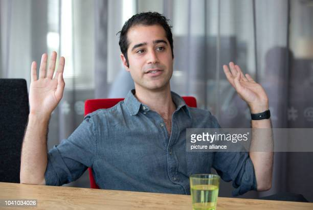 Kayvon Beykpour founder and CEO of Periscope speaks during an interview with the German Press Agency in an office of Twitter Germany in Hamburg...