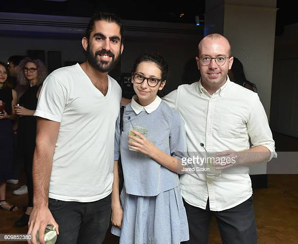 Kayvon Raphael Kate Holguii and Adam M attend Aperture Magazine Launches the Sounds Issue at Liberty Hall at Ace Hotel on September 22 2016 in New...