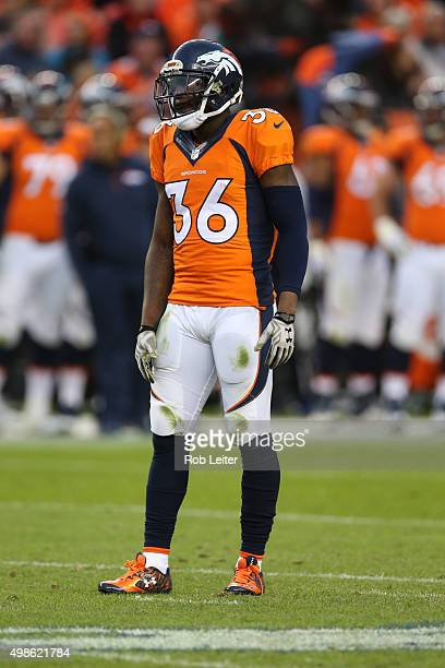 Kayvon Webster of the Denver Broncos in action during the game against the Kansas City Chiefs at Sports Authority Field At Mile High on November 15...