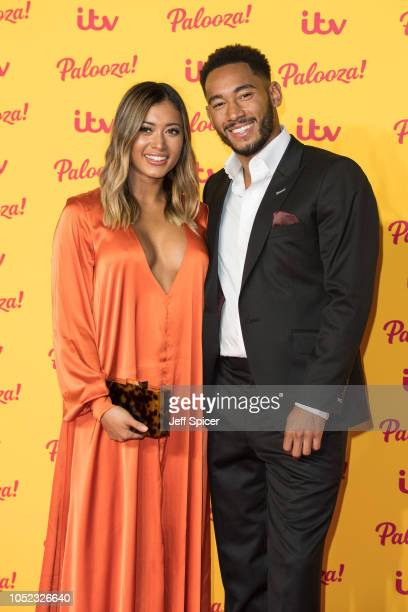 Kaz Crossley and Josh Denzel attend the ITV Palooza held at The Royal Festival Hall on October 16 2018 in London England