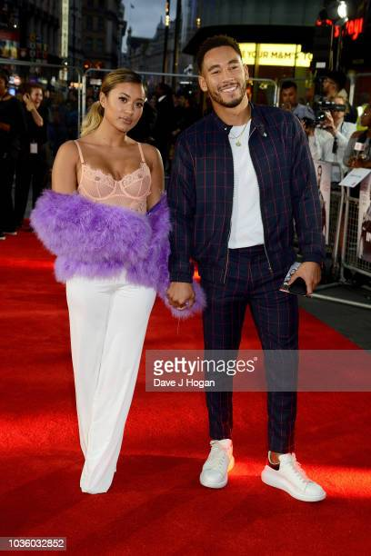 Kaz Crossley and Josh Denzel attend the World Premiere of 'The Intent 2 The Come Up' at Cineworld Leicester Square on September 19 2018 in London...
