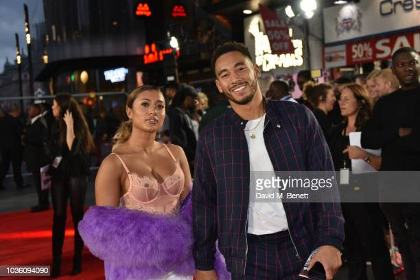 Kaz Crossley and Josh Denzel attend then World Premiere of The Intent 2 The Come Up at Cineworld Leicester Square on September 19 2018 in London...
