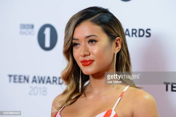 Kaz Crossley arrives at the BBC Radio 1 Teen Awards at SSE Arena on October 21 2018 in London England