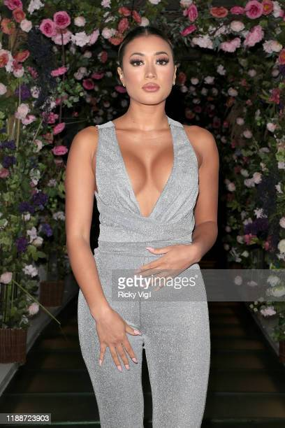 Kaz Crossley attends Amber Rose Gill X Misspap party collection launch dinner at Restaurant Ours on November 19 2019 in London England