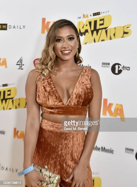 Kaz Crossley attends the 2018 KA GRM Daily Rated Awards at Eventim Apollo on September 4 2018 in London England