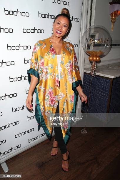 Kaz Crossley attends the Boohoo X Kendall Knight launch dinner at Langham Hotel on October 9 2018 in London England