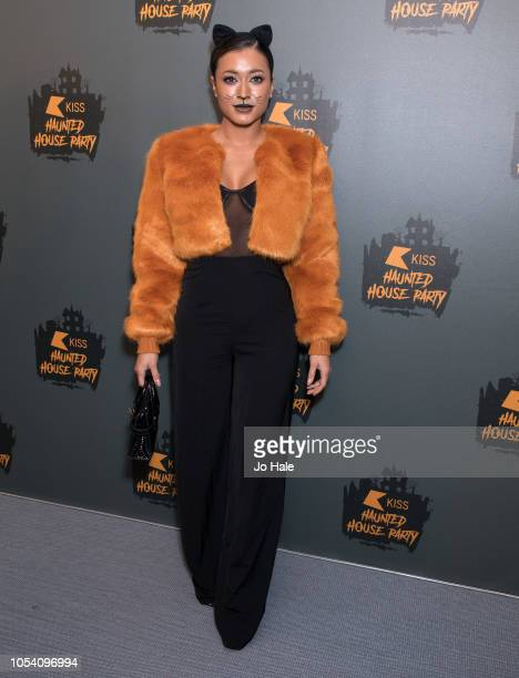 Kaz Crossley attends the Kiss Haunted House Party 2018 at The SSE Arena Wembley on October 26 2018 in London England