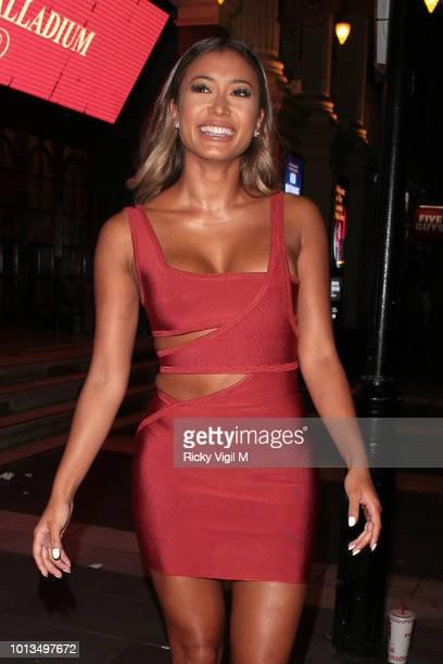 Kaz Crossley attends the Love Island Welcome Home Party at Toy Room Club on August 8 2018 in London England