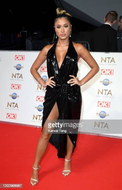 Kaz Crossley attends the National Television Awards 2020 at The O2 Arena on January 28 2020 in London England
