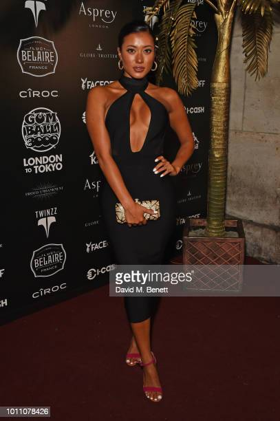 Kaz Crossley attends the official launch party for the Gumball 3000 Rally at Proud Embankment on August 4 2018 in London England The 2018 Gumball...
