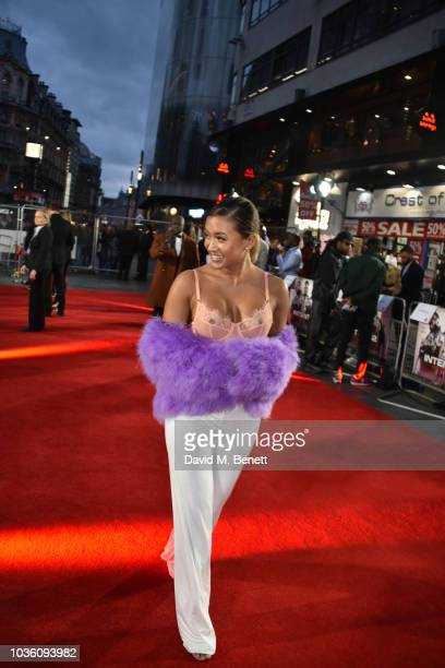 Kaz Crossley attends then World Premiere of The Intent 2 The Come Up at Cineworld Leicester Square on September 19 2018 in London England