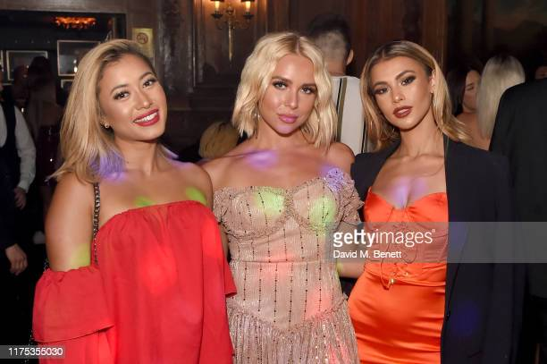 Kaz Crossley Gabby Allen and Joanna Chimonides attend Chris Eubank Jr's surprise birthday party at Tramp on September 17 2019 in London England