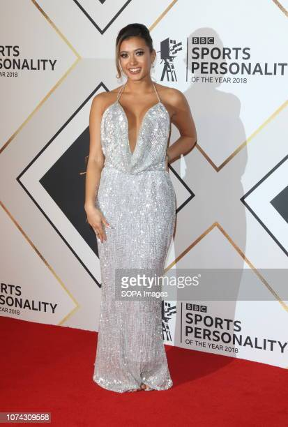 Kaz Crossley on the red carpet at the BBC Sports Personality Of The Year 2018 at the Resorts World Arena