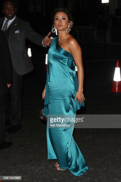 Kaz Crossley seen arriving at the Pride of Britain Awards at the Grosvenor Hotel on October 29 2018 in London England