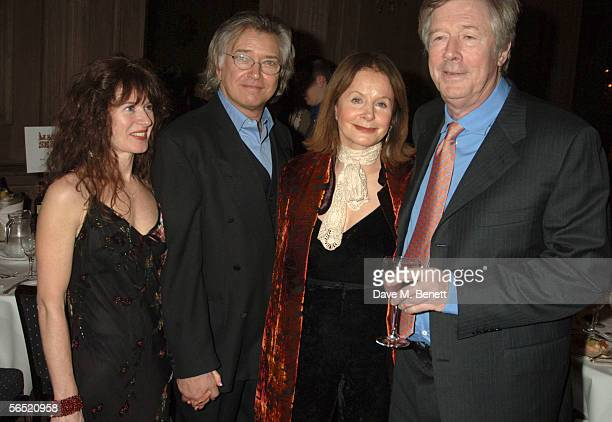 Kaz De Silva actor Martin Shaw Sarah Miles and Michael Refern attend the after show party following the opening night of Bill Kenwright's production...