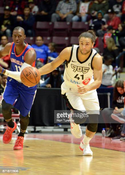 Kaza Keane of Raptors 905 handles the ball against the Long Island Nets during the NBA GLeague on November 8 2017 at the Hershey Centre in...