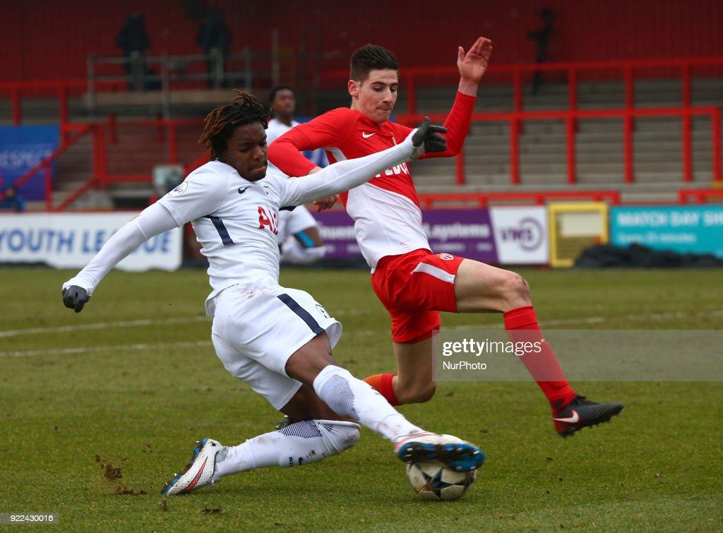 Tottenham Hotspur U19 v Monaco U19: UEFA Youth League : Nachrichtenfoto
