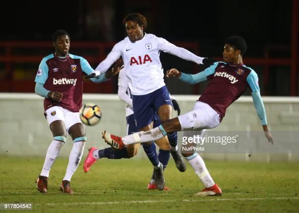 Kazaiah Sterling of Tottenham Hotspur U23s during Premier League 2 Division 1 match between West Ham United Under 23s and Tottenham Hotspur Under 23s...