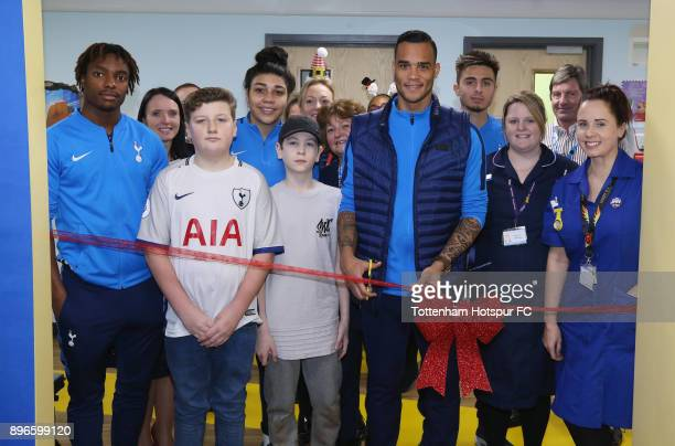 Kazaiah Sterling Renee Hector Michel Vorm and Anthony Georgiou open a new paediatrics emergency department alongside patients and staff during a...