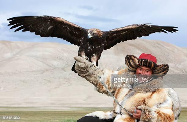 kazak eagle hunter - hugh sitton bildbanksfoton och bilder
