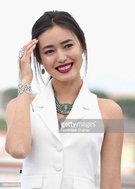 Kazakh actress Dinara Baktybayeva attends 'The Gentle Indifference Of The Word' Photocall during the 71st annual Cannes Film Festival at Palais des...