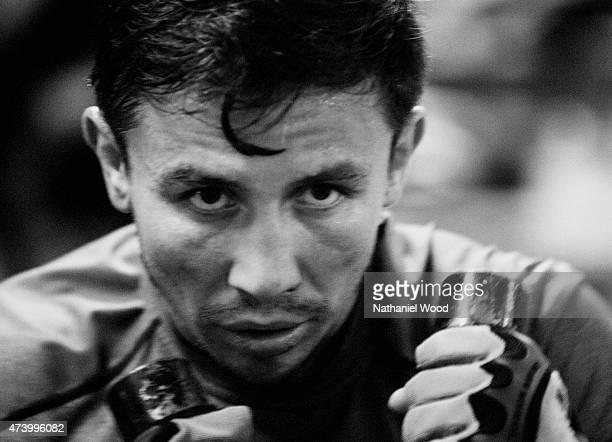 Kazakh boxer Gennady Golovkin is photographed for Men's Fitness on November 1, 2014 in Big Bear, California.