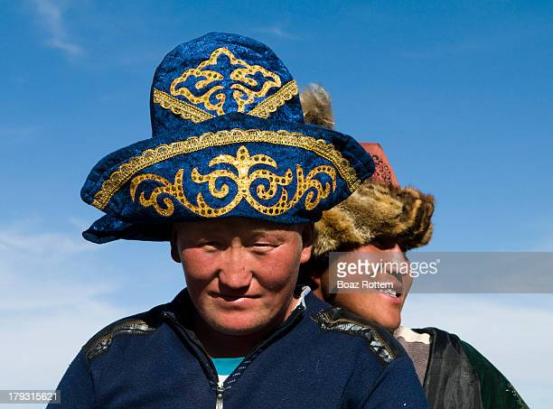 Kazakh eagle hunters in the Altai region of western Mongolia.