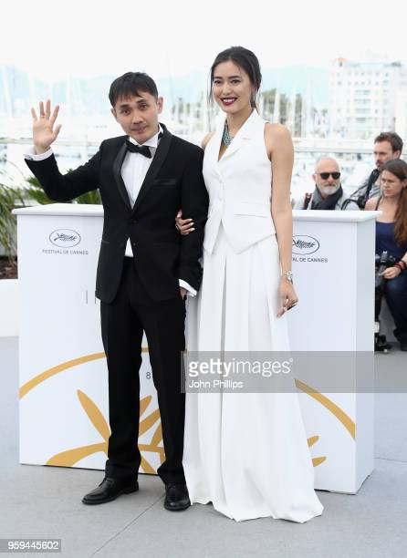 Kazakh film director Adilkhan Yerzhanov and Kazakh actress Dinara Baktybayeva attend the photocall for the 'The Gentle Indifference Of The Word'...