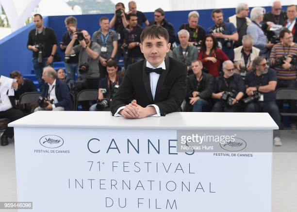 Kazakh film director Adilkhan Yerzhanov attends the photocall for the 'The Gentle Indifference Of The Word' during the 71st annual Cannes Film...