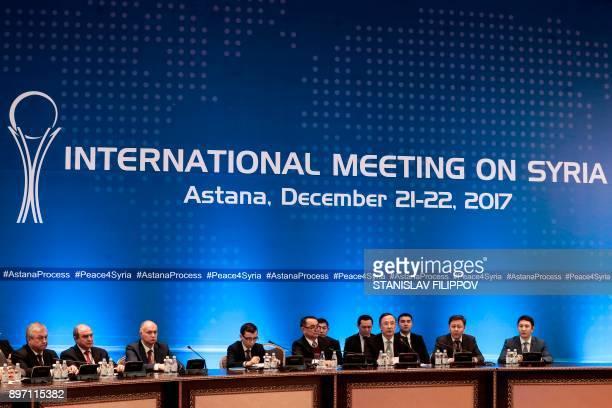 Kazakh Foreign Minister Kairat Abdrakhmanov attends the session of Syria peace talks in Astana on December 22 2017 / AFP PHOTO / Stanislav FILIPPOV