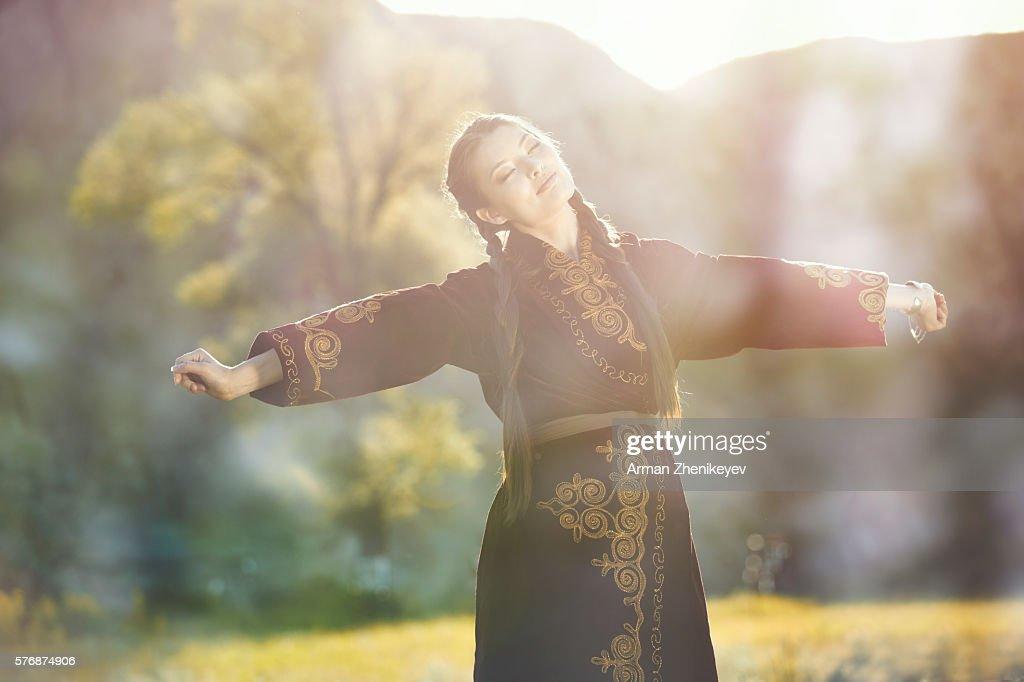 Kazakh girl : Stock Photo