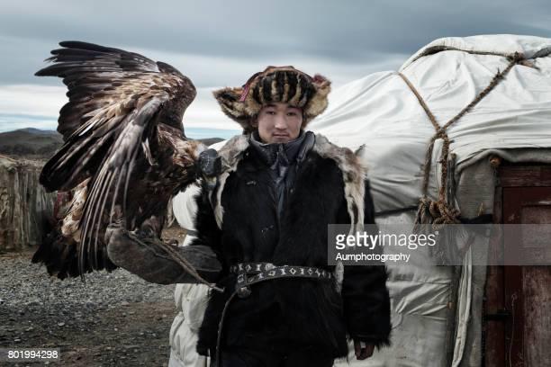 Kazakh golden eagle hunter, Mongolia.