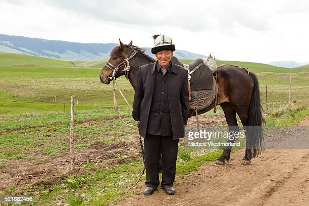 Kazakh Man with Horse