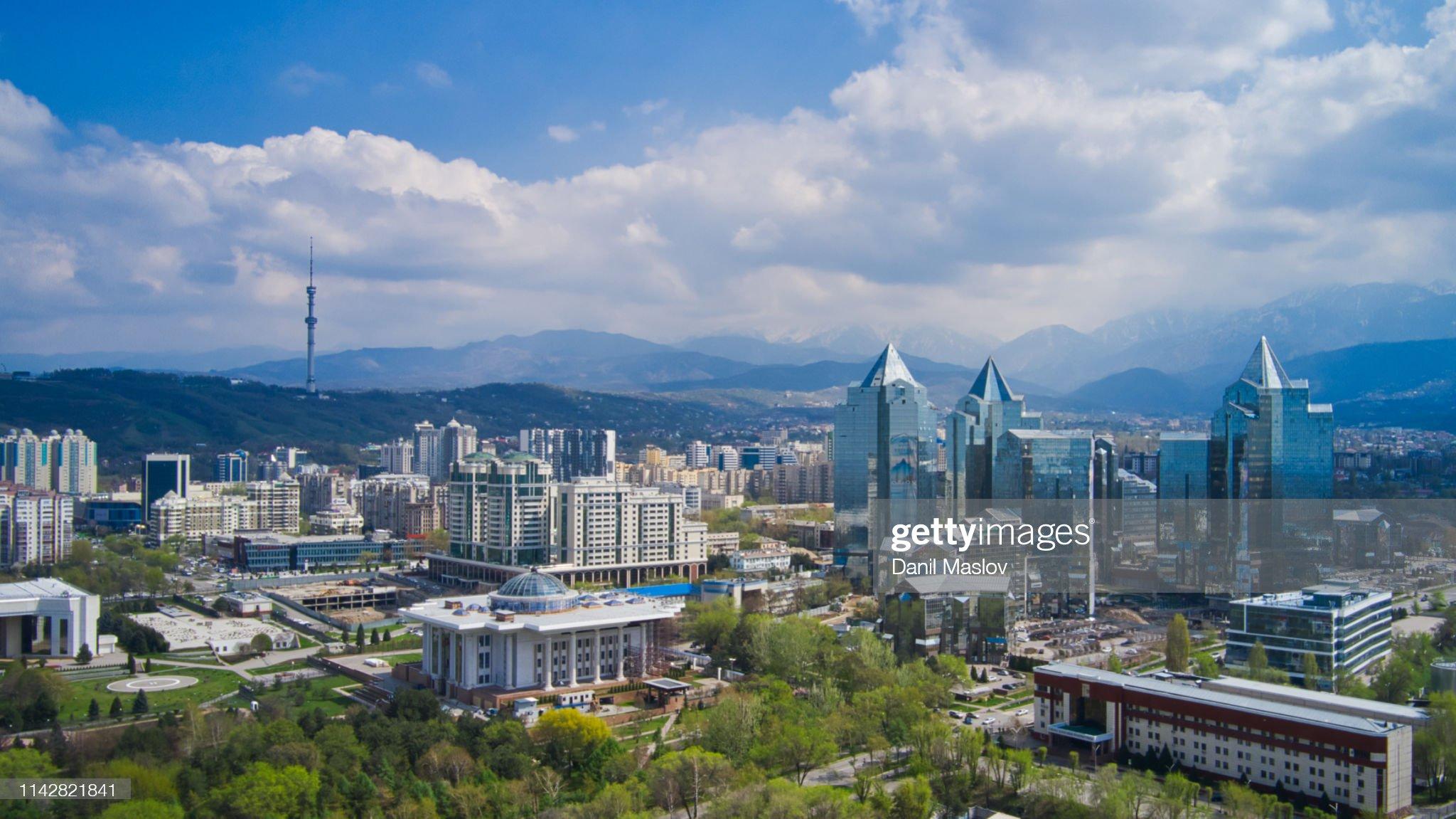 Kazakhstan Almaty aerial landscape : Foto stock