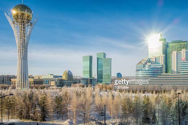 kazakhstan astana and bayterek - astana stock photos and pictures